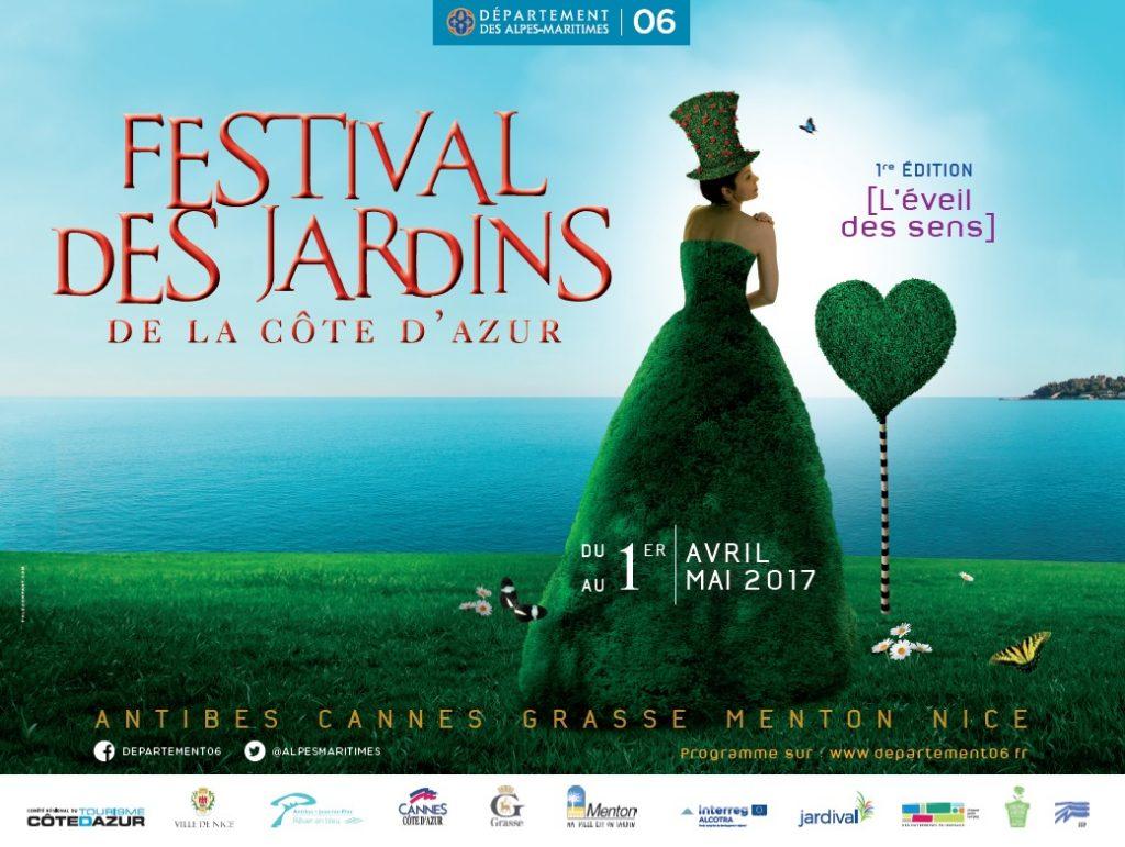 Affiche du Festival des Jardins de la Côte d'Azur 2017